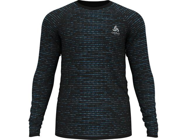 Odlo Blackcomb Ceramicool T-Shirt L/S Crew Neck Men black/space dye